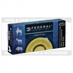 FEDERAL 243WIN AMMO POWER SHOK 100GR (20)