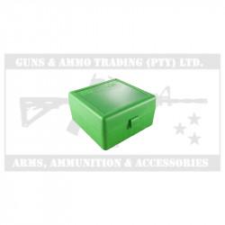 MTM AMMO CASE DELUXE 22-250-375 GREEN (100)