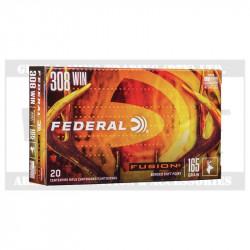 FEDERAL 308WIN AMMO 165GR FUSION(20)