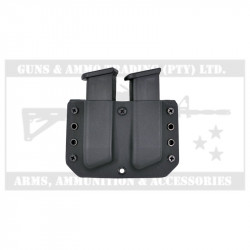 DANIEL'S HOLSTERS DS STEEL 9/40 DOUBLE OWB MAG POUCH